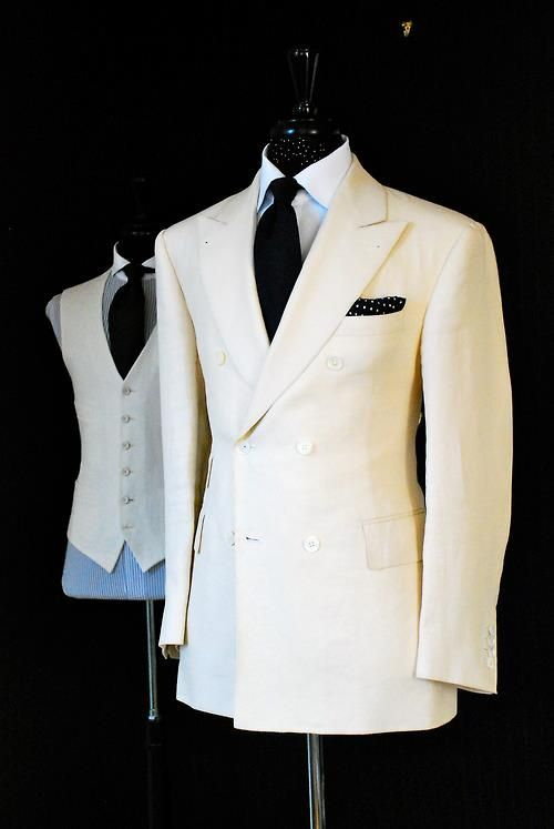 gntstyle:    White Suit      Gentleman style