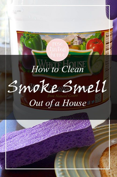 How To Clean Smoke Smell Out of the House | Rose Tinted Home