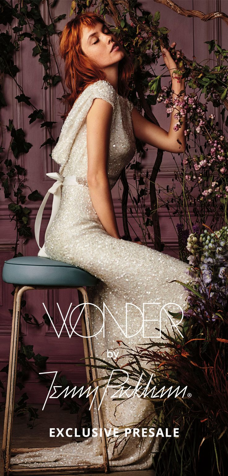 Be the first to wear Wonder by Jenny Packham, the newest designer line available only at David's Bridal. Shop the presale now for wedding dresses, bridesmaid dresses, shoes, and accessories—before they're available online or in stores.