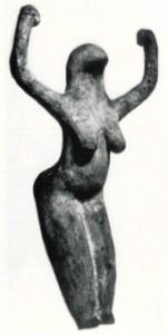 Pre-dynastic egyptian bird-head goddess