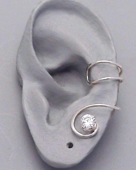 Silver ear cuff, cute for a wedding