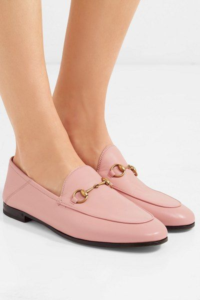 d92579624d2 Gucci brixton horsebit-detailed leather collapsible-heel loafers.  gucci