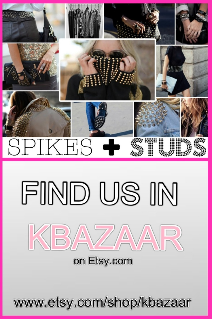 DIY hot fix and glue on studs and spikes FREE SHIPPING ! Type u0026#39;KBazaar ...