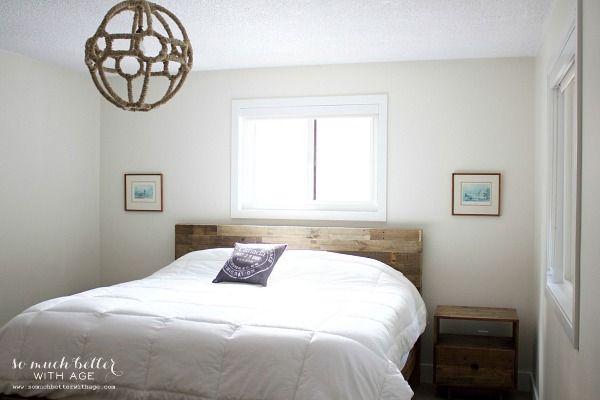 dormitorio cabaña rústica por somuchbetterwithage.com