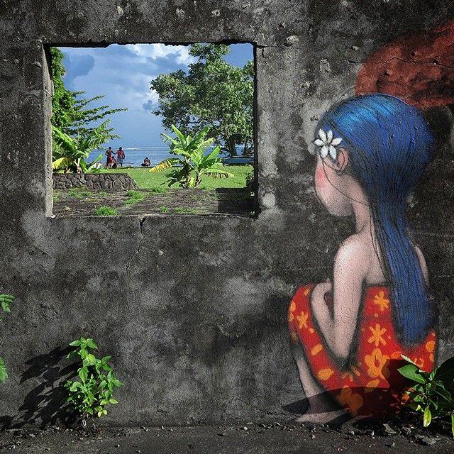 Living Canvas, Tahiti Nui, by Seth the globe painter