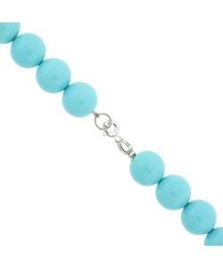 Sterling Silver Blue Turquoise Bead Bracelet: Beads Bracelets, Blue Turquoise, Sterling Silver, Products Review, Turquoise Beads, Turquoi Beads, Silver Blue, Gemstone Bracelets