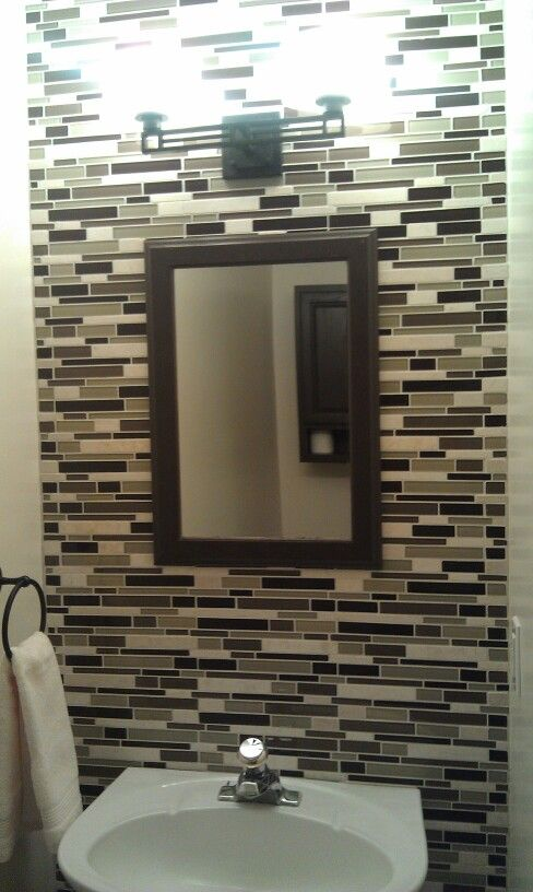 our half bath remodel patrick 39 s home pinterest