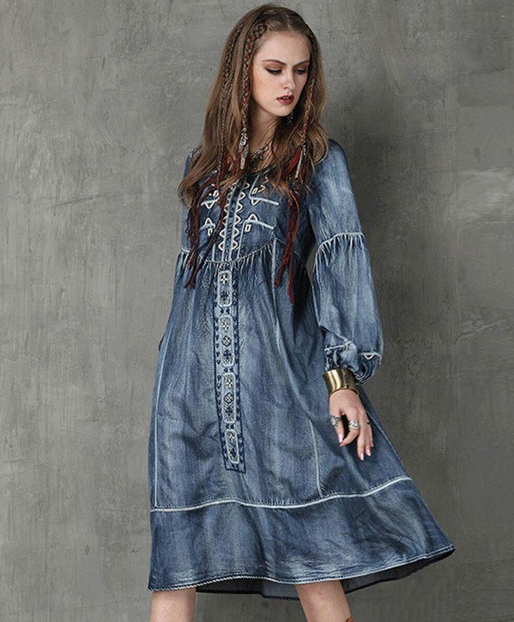 джинсовое платье с кружевом своими руками фото творческим