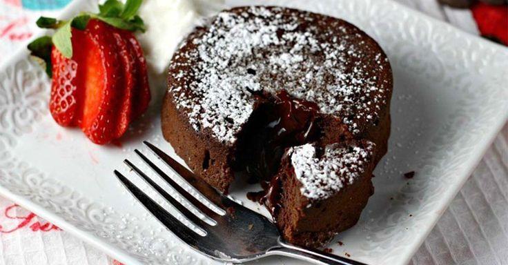 recept na lávový dortík