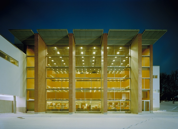 One of my favorite libraries, Tritonia in Vaasa, Finland.
