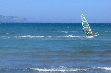 With three huge bays we can direct you to the wind! #windsurf #kitesurf #sail #Mallorca #Majorca #Balearic #Islands #Spain