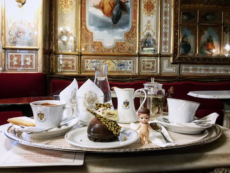 【Cafe Florian】 Founded 1720. In the very early times, it was the only cafe house that allowed women.