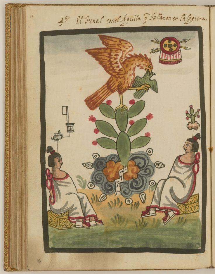 El águila, la serpiente y el cactus en la fundación de Tenochtitlán — Visor — Biblioteca Digital Mundial