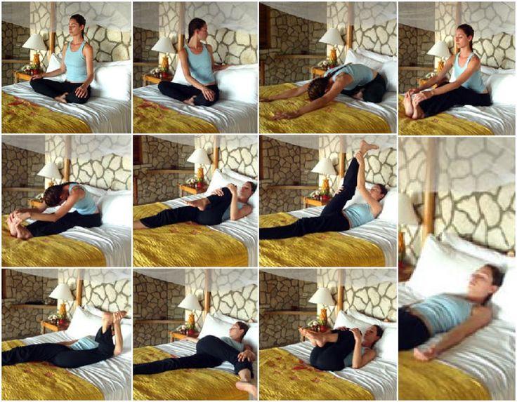 Bed time yoga via http://www.womenshealthmag.com/life/bedtime-yoga