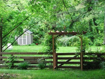 fence/arbor. reminds me of the one in Matilda's yard in Anne of Green Gables