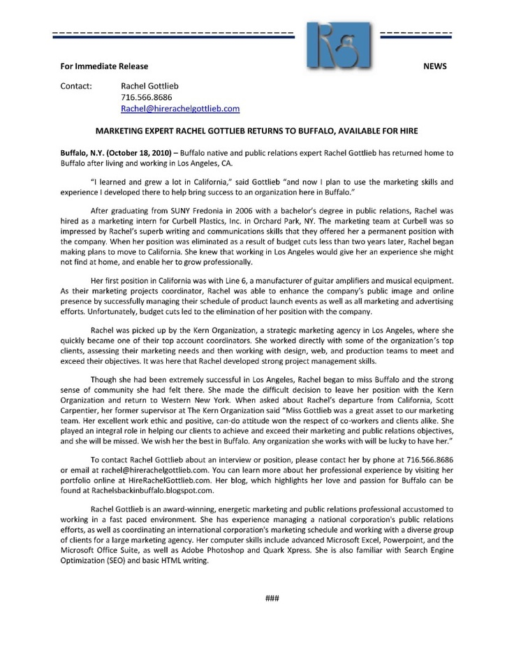 press release cover letter Scroll down below the press release template to see industry-specific press release samples, formatting tips, and how to write and.