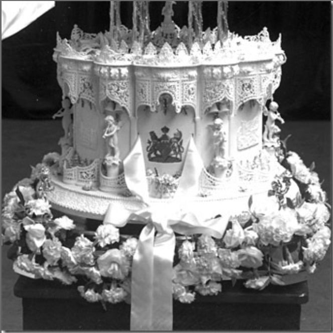 British Royal Wedding Cakes: 1947 Bottom Tier Of Pr. Elizabeth's Cake