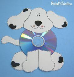 como fazer cachorrinho com cd usado reciclagem (1)