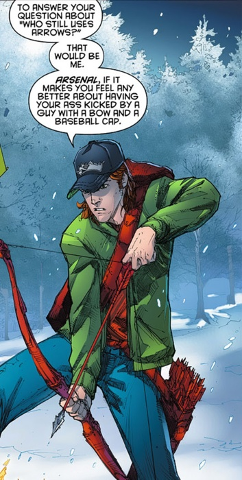 Red Hood and the Outlaws #4    Roy Harper, everyone