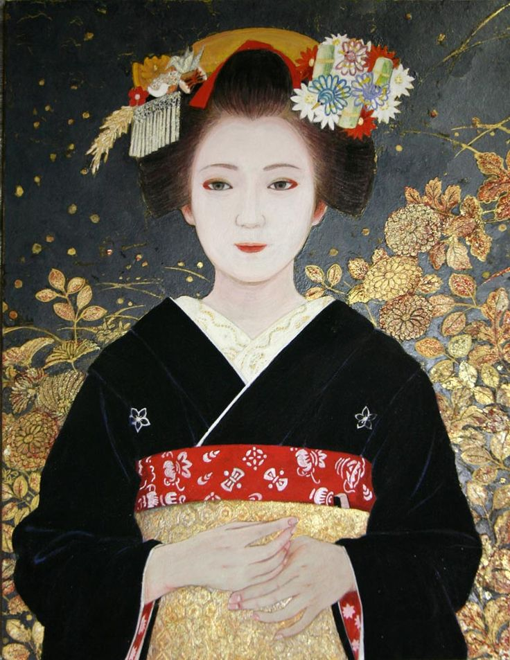 日本画NIHONGA 紙本 岩絵の具 箔 10号P(53×40.9㎝)japanese painting