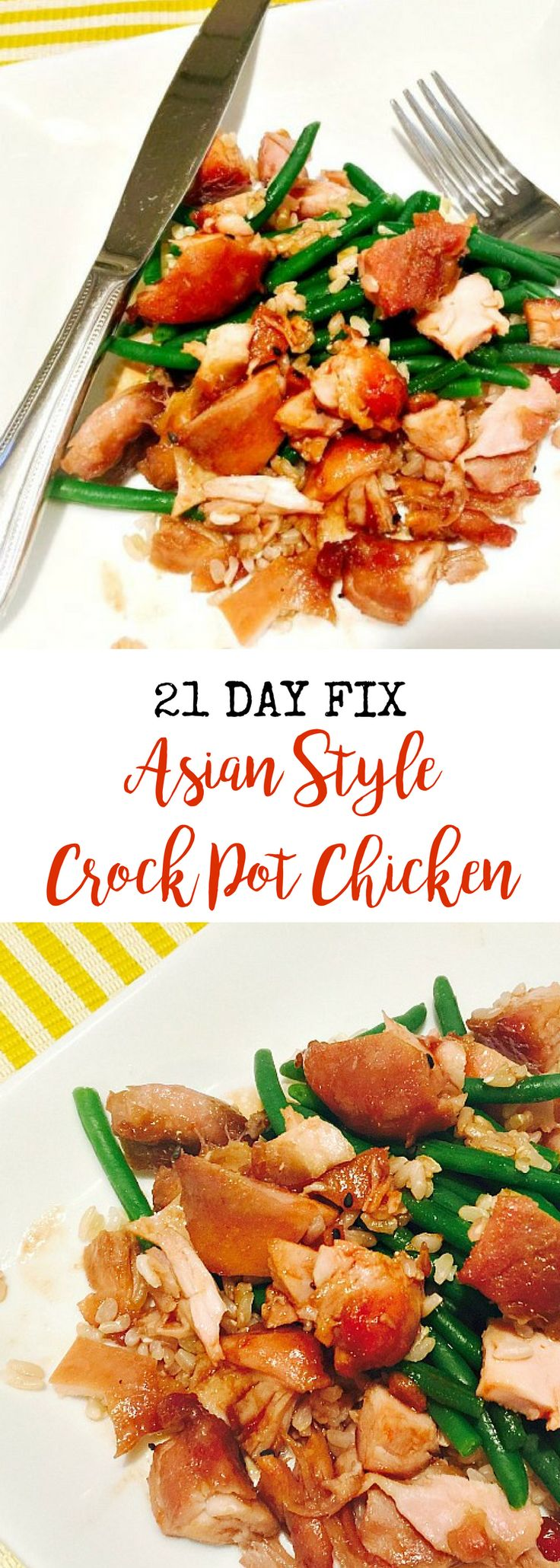 21 Day Fix Asian Style Crock Pot Chicken | Confessions of a Fit Foodie