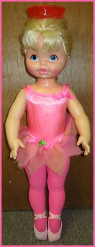 1968 Mattel's Dancerina Ballerina Dancing Doll.  This is one of my most beloved childhood dolls of all! Loved Her! ;-) Mine has black hair....