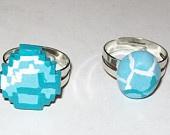 Minecraft Diamond Ring Polymer Clay