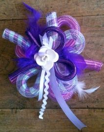 paars wit   corsages feest/carnaval   btstyling