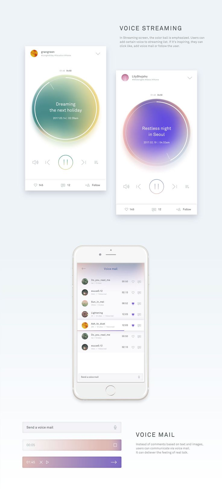 Breeze - Voice only SNS on Behance