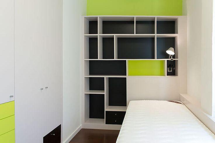 Dormitorio individual. Dúplex en Sabadell, Barcelona.