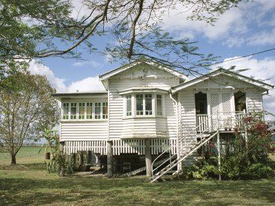 Queenslander, a Rural House, Near Mackay, Queensland, Australia