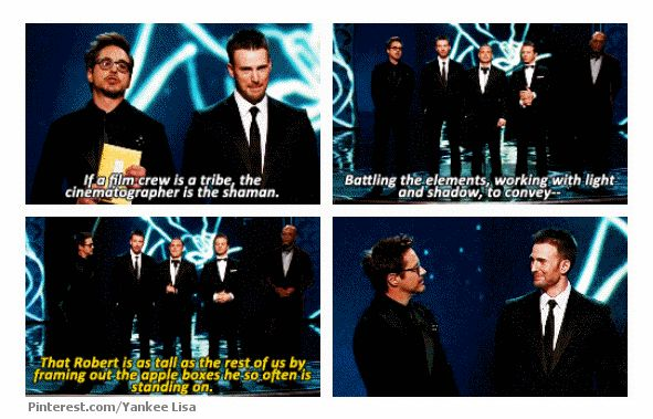 The Avengers cast @ the Oscars.