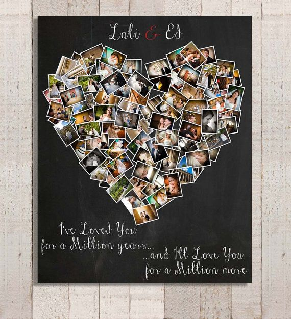 52 best diy anniversary images on pinterest anniversary ideas personalized anniversary gift heart photo collage anniversary gift for husband anniversary gift for wife mothers day anniversary gift solutioingenieria Images