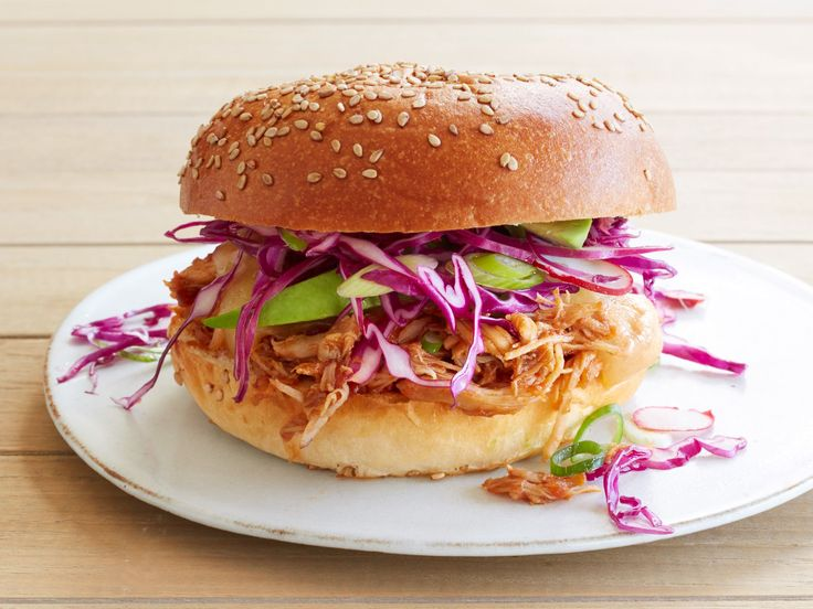 Get this all-star, easy-to-follow Slow-Cooker Mexican Barbecue Chicken Sandwiches recipe from Food Network Kitchen