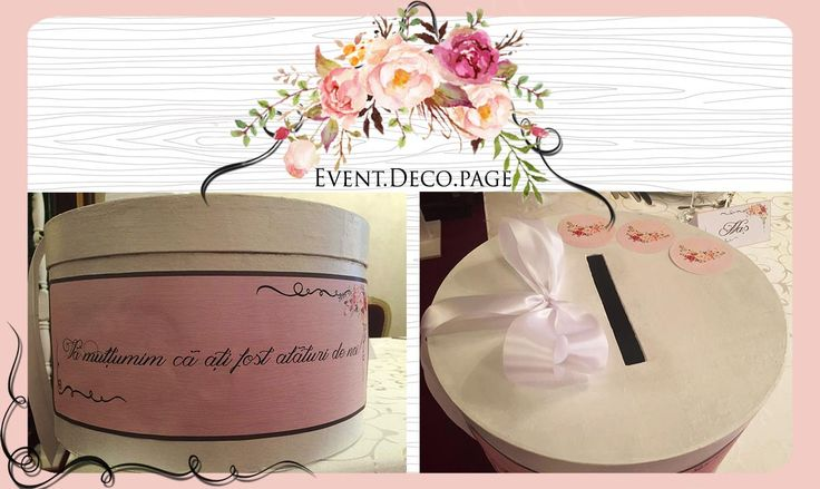 Wedding gift box by Event Deco. Find us on Facebook, Event.Deco.page!