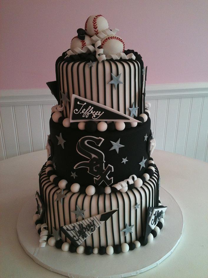 Chciago White Sox Birthday Cake SweetPea Cakes Bakery