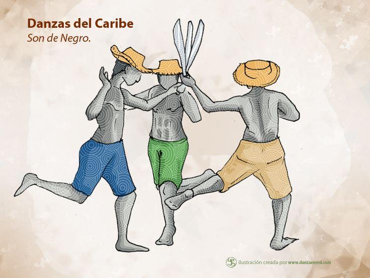 Son de negro es una de las danzas que representa la resistencia, la opresión de los esclavos africanos que llegaron a Colombia: http://www.danzaenred.com/articulo/caribe-la-region-que-le-canta-y-le-baila-sus-tradiciones