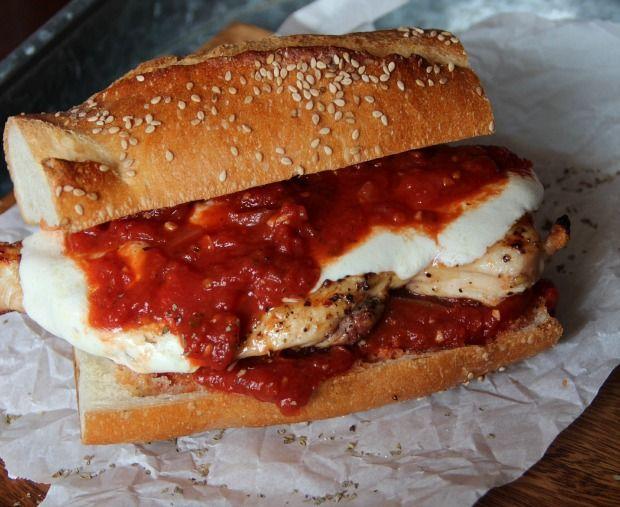 Spicy Grilled Chicken Cutlet Parm Sandwich