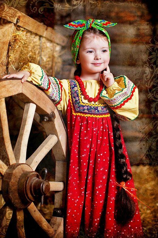 Little Russian girl in a traditional dress. #kids