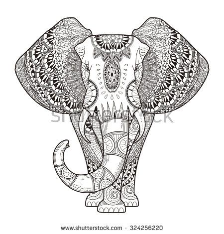 Coloring Pages Of Elephants. Cool Stress Relief Coloring Pages ...