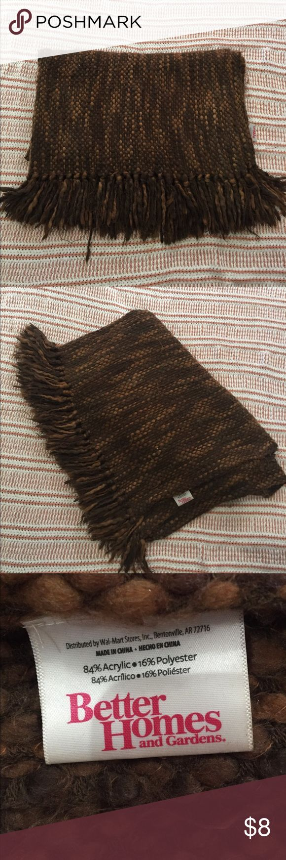 Better Home and Garden Brown Throw Blanket Better Home and Garden Brown Throw Blanket Better Home and Garden Other