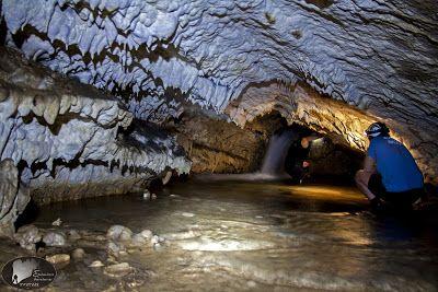 A source in a cave. Tzoumerka, Greece