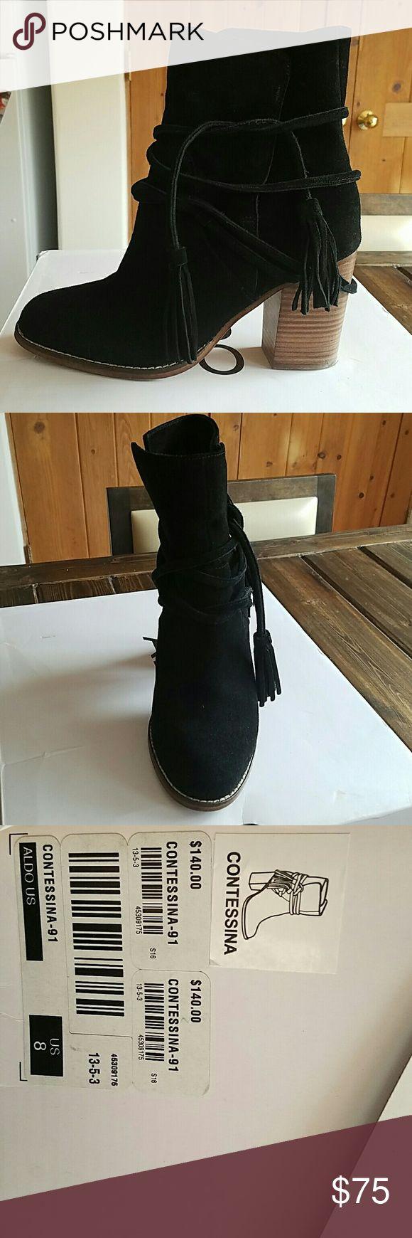 Black suede aldo boots Excellent condition, black suede aldo boots. Aldo Shoes Ankle Boots & Booties