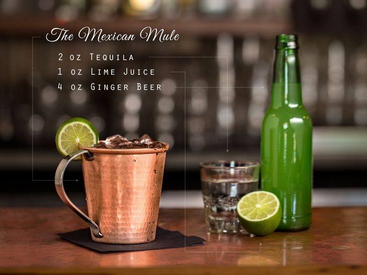 Make My Mule a Mexican, Please – sub the vodka with tequila. Might also add a bit of simple syrup and a dash or two of bitters.