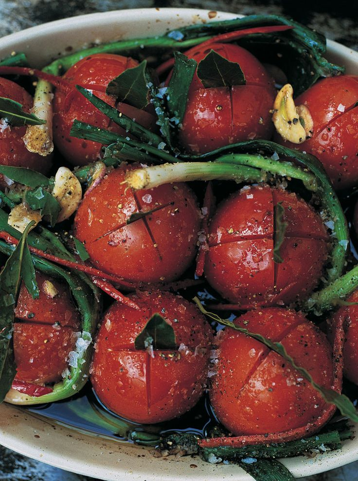 This is one of those recipes that, apart from being damn tasty, is kind of slapdash but so easy to make and consistently good. You can really get some mileage out of it. The key things are to get yourself some best-quality plum tomatoes and buy some cheap balsamic vinegar, as you'll be using a lot of it.