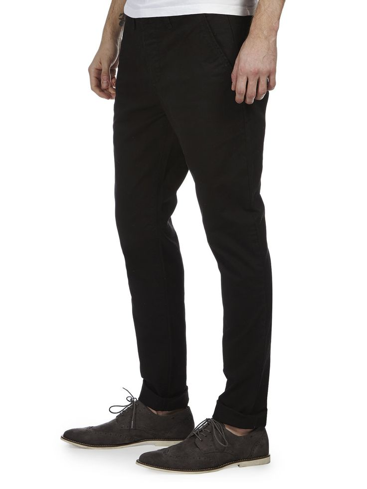 Black Stretch Skinny Chinos - Mens Chinos - Clothing - Burton
