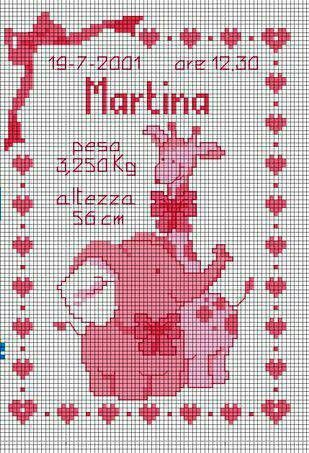 cross stitch baby announcement
