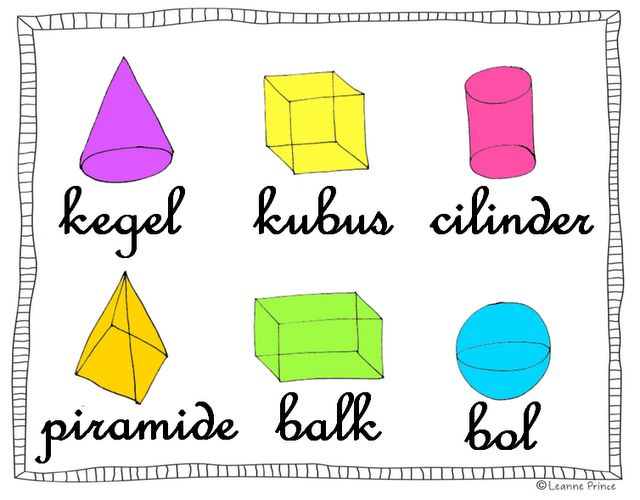 geometrische vormen poster