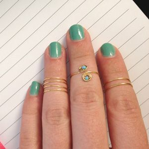 diy gold midi ring