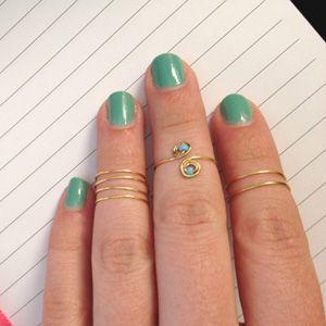 diy gold midi ring